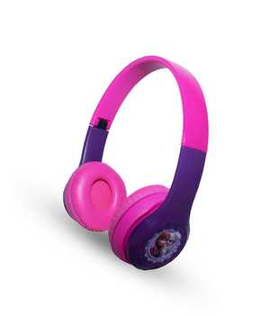 Macmerise Frozen Purple Love P47 Wired & Wireless (Combo) Bluetooth with Mic Passive Noise Isolation Headphones (On-Ear)