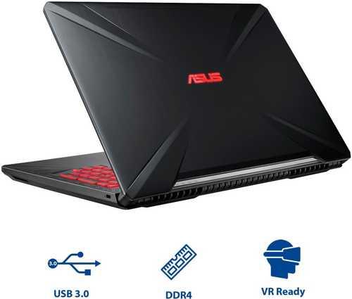 Asus TUF FX504GM-E4112T (15.6 inch (39 cm), Intel 8th Gen Core i5-8300H, 8 GB DDR4 RAM, 1 TB HDD + 128 GB SSD, 6 GB Graphics, Windows 10 Home) Gaming Laptop