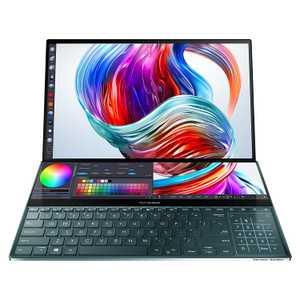 Asus ZenBook Pro Duo UX581GV-HM7201T (90NB0NG1-M02800) (15.6 inch (39.62 cm), Intel 9th Gen Core i7-9750H, 32 GB DDR4 RAM, 1 TB SSD, 6 GB Graphics, Windows 10 Home) ScreenPad Plus TouchScreen OLED Laptop