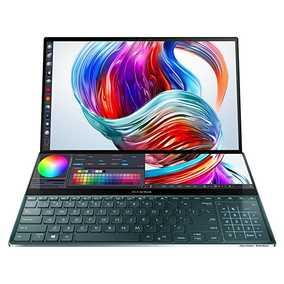 Asus ZenBook Pro Duo UX581GV-H9201T (90NB0NG1-M02040) (15.6 inch (39.62 cm), Intel 9th Gen Core i9-9980HK, 32 GB DDR4 RAM, 1 TB SSD, 6 GB Graphics, Windows 10 Home) ScreenPad Plus TouchScreen OLED Laptop