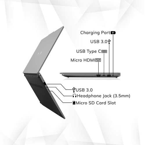 Avita Liber V14 NS14A8INV561-AGA (14 inch (35.56 cm), AMD Ryzen 5 3500U, 8 GB DDR4 RAM, 512 GB SSD, Windows 10 Home) Built-in Optimal Top Up Web Camera Laptop