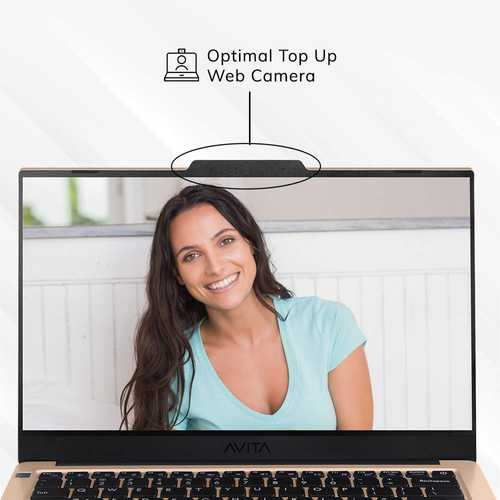 Avita Liber V14 NS14A8INV561-UGA (14 inch (35.56 cm), AMD Ryzen 5 3500U, 8 GB DDR4 RAM, 512 GB SSD, Windows 10 Home) Built-in Optimal Top Up Web Camera Laptop