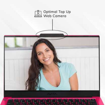 Avita Liber V14 NS14A8INV562-CRA (14 inch (35.56 cm), AMD Ryzen 5 3500U, 8 GB DDR4 RAM, 512 GB SSD, Windows 10 Home) Built-in Optimal Top Up Web Camera Laptop with MS Office