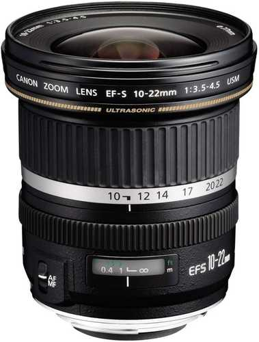 Canon EF-S 10-22 mm F/3.5-4.5 USM For Canon EF-S Mount Wide-angle Lens