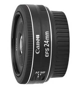 Canon EF-S 24 mm F/2.8 STM For Canon EF-S Mount Wide-angle Lens