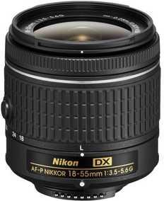 Nikon AF-P DX NIKKOR 18-55 mm F/3.5-5.6G For Nikon F Mount Wide-angle Lens