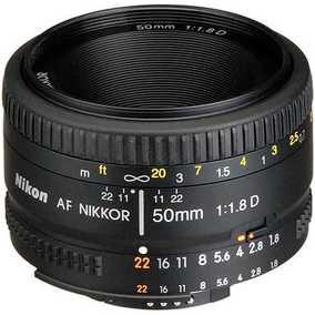Nikon AF NIKKOR 50 mm F/1.8D For Nikon F Mount Normal Lens