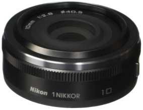 Nikon 1 NIKKOR 10 mm F/2.8 For Nikon 1 Mount Wide-angle Lens