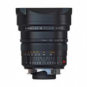 Leica 11647 (SUMMILUX-M 21 mm F/1.4 ASPH) & Leica M Mount Standard Aspherical Black Anodized Lens