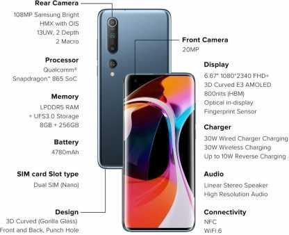 Xiaomi Mi 10 5G (8GB, 128GB)