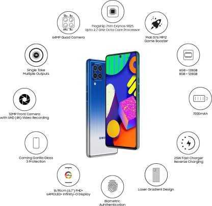 Samsung Galaxy F62 (8GB, 128GB)