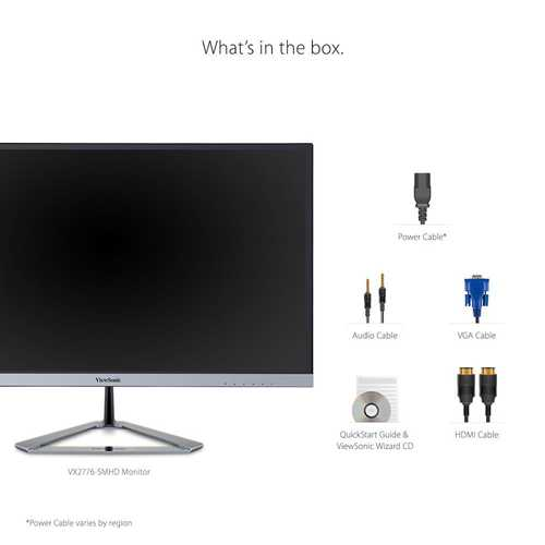 ViewSonic VX2776-SMHD 27 inch (68 cm) Full HD AH-IPS Monitor