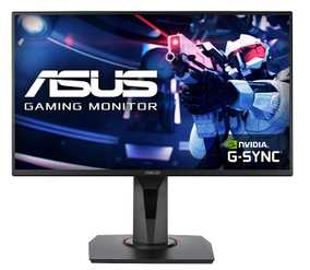 Asus VG258QR 24.5 inch (62 cm) Full HD TN Panel Flicker Free WideScreen Gaming LCD Monitor