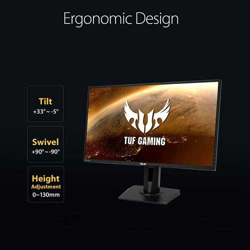 Asus TUF Gaming VG27AQ 27 inch (69 cm) WQHD IPS Panel Flicker Free WideScreen Gaming Monitor