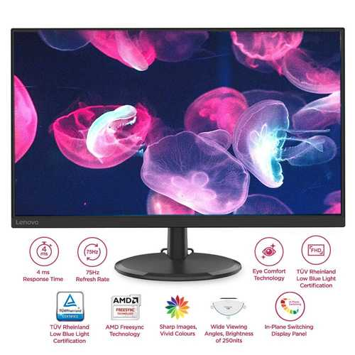 Lenovo D27-20 (65F5KAC1IN) 27 inch (69 cm) Full HD IPS Panel Gaming LED Backlight LCD Monitor