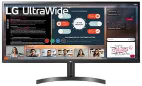 LG 34WL500-B 34 inch (86 cm) Full HD IPS Panel UltraWide Gaming LED Monitor