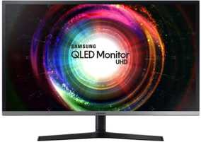 Samsung UH850 Series LU32H850UMUXEN 31.5 inch (80 cm) UHD VA Panel Flicker Free Slim Thin Bezel Professional QLED Monitor