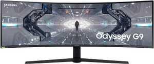 Samsung Odyssey G9 LC49G95TSSWXXL 49 inch (124.46 cm) Ultra-Wide Dual QHD VA Panel Curved Gaming QLED Monitor