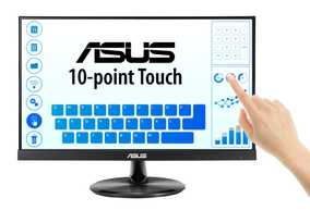 Asus VT229H 21.5 inch (54.61 cm) Full HD IPS Panel 3 Side Borderless TouchScreen Monitor