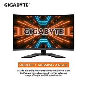 Gigabyte Gaming Series G32QC 31.5 inch (80.01 cm) QHD VA Panel 3 Side Borderless Curved Monitor