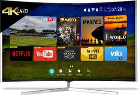 CloudWalker Cloud TV 65SU-C 65 inch (165 cm) Ultra HD 4K Smart Gaming Curved LED TV
