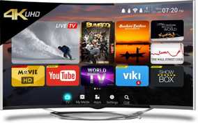 CloudWalker Cloud TV 55SU-C 55 inch (139 cm) Ultra HD 4K Dolby Vision Smart Gaming Curved LED TV