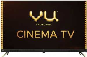 VU Cinema Series 50CA 50 inch (127 cm) Ultra HD 4K DLED HDR 10 Pexel Glass Android Smart TV
