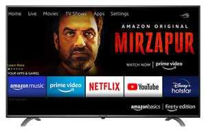 AmazonBasics AB55U20PS 55 inch (139.70 cm) Ultra HD 4K HDR 10 Plus LED Fire TV Edition Smart TV