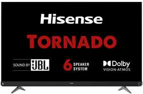 HiSense A73F Series 55A73F 55 inch (139.70 cm) Ultra HD 4K HDR 10 LED Tornado JBL 6 Speaker Smart TV