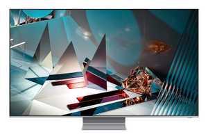 Samsung Series 8 QA82Q800TAKXXL 82 inch (208.28 cm) Ultra HD 8K Quantum HDR 16x QLED Ultra Slim Gaming Smart TV