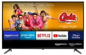 AmazonBasics AB43E10DS 43 inch (109 cm) Full HD LED Fire TV Edition Smart TV