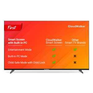 CloudWalker Cloud TV 55SUA9 55 inch (140 cm) Ultra HD 4K IPS Panel LED HDR 10 Built-in PC Mode Smart TV