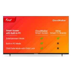 CloudWalker Cloud TV 43SUA9 43 inch (109 cm) Ultra HD 4K IPS Panel LED HDR 10 Built-in PC Mode Smart TV