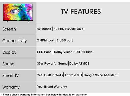 Foxsky 40FS-VS 40 inch (102 cm) Full HD LED Smart TV