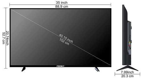 Foxsky 40FSFHS 40 inch (102 cm) Full HD LED Smart TV