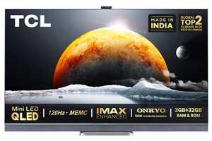 TCL C825 Series 55C825 55 inch (139 cm) UHD 4K QLED HDR 10 Plus Hands Free Voice Control AI Gaming Android TV