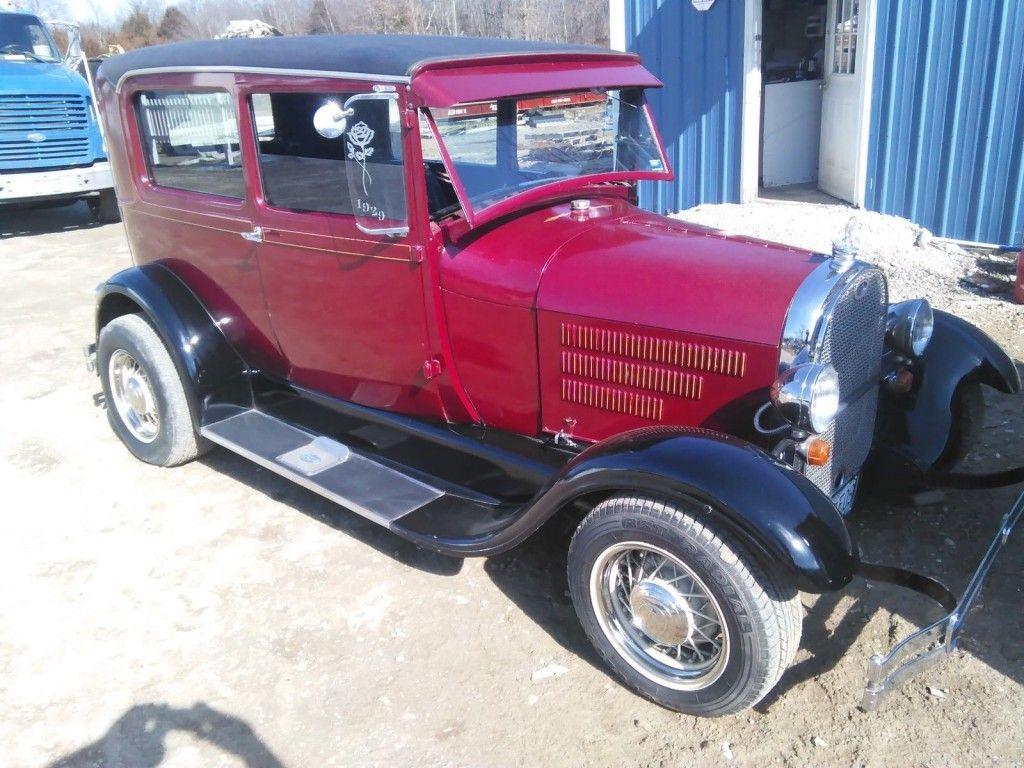1929 Ford Model A sedan street rod / rat rod