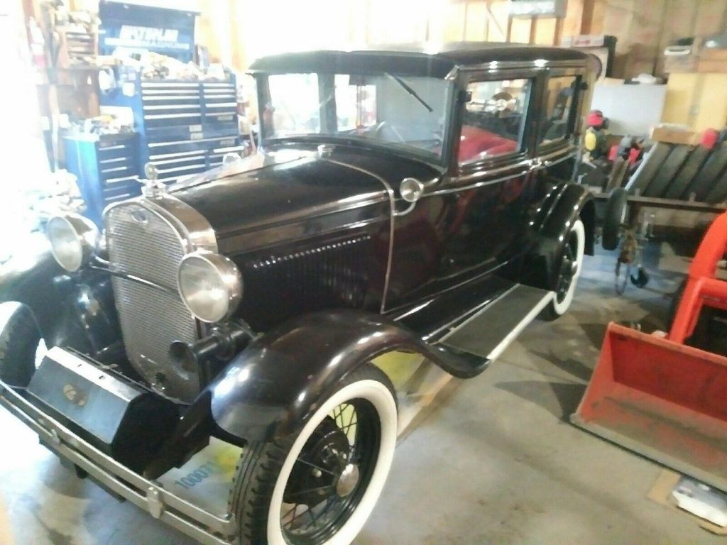 1930 Ford Model A, Four Door Sedan in Overall Good Condition With Extra Parts