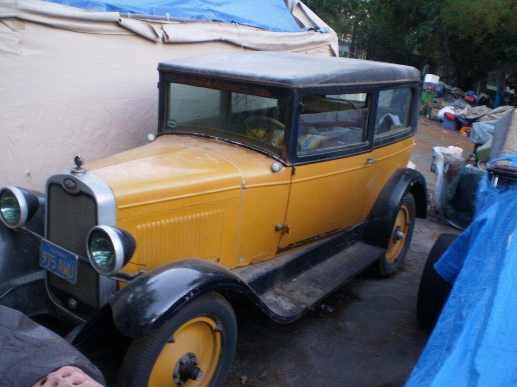 1928 Chevrolet 2 Door Barn Fresh Running and Driving Rat Rod Hot Rod Project