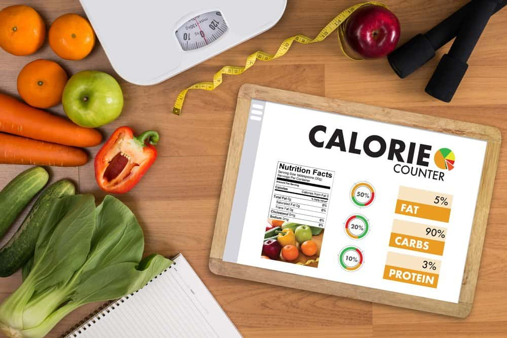 CALORIE counting application - healthy Diet concept