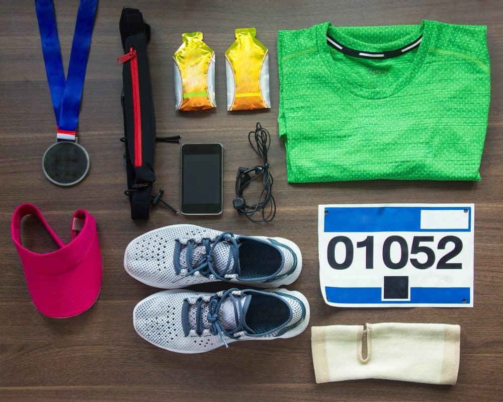 Top View of Running Gear - How to Start Running as a Beginners