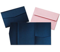 Invitation paper pocket envelopes bulk cardstock and more pocket invitation cards stopboris Image collections