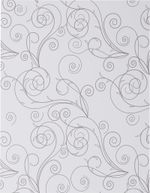 8 1 2 x 11 simple gray swirls on classic white solid cardstock front 1