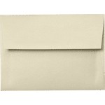 A7 champagne metallic envelopes closed 0132