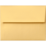 A2 gold metallic envelope closed 0269