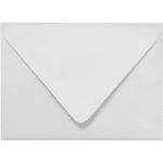 A7 pearl white metallic euro flap envelopes closed