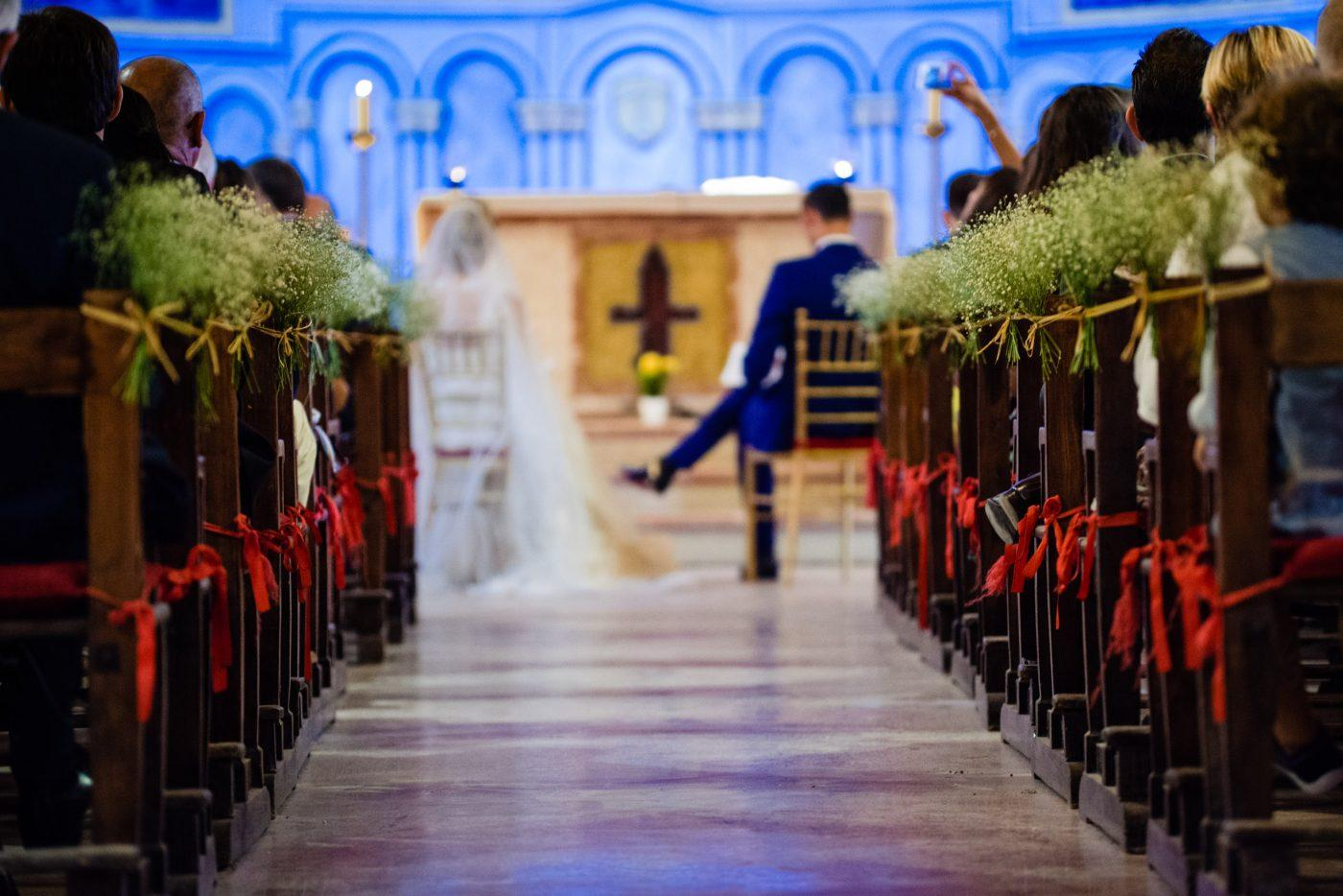 Wedding ceremony photography at Catholic Church in Marrakech
