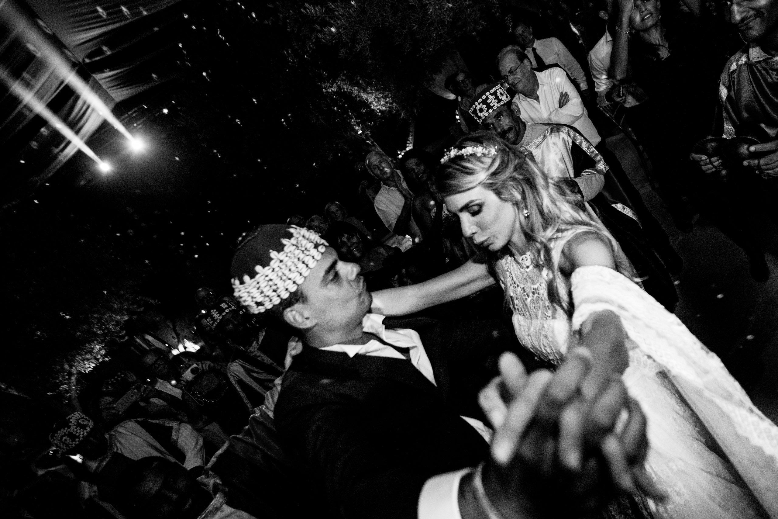Wedding reception photos at Marrakech wedding