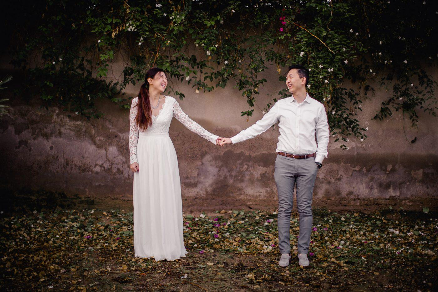 Engagement photography at Marrakech palmeraie
