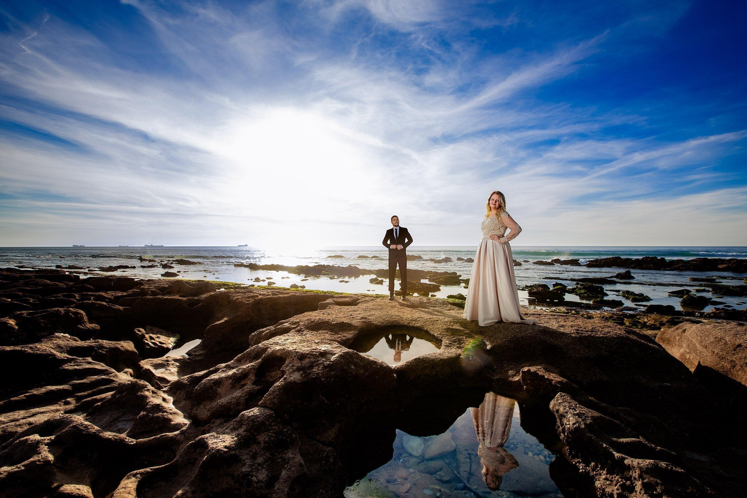 Post wedding photoshoot on Agadir's beach.